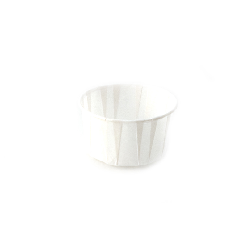 2 oz Paper Soufflé Cup Dry Waxed White Pack Of 250
