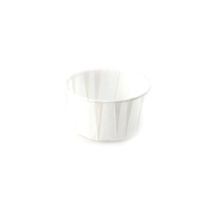 4 oz Paper Soufflé Cup Dry Waxed White Pack Of 250