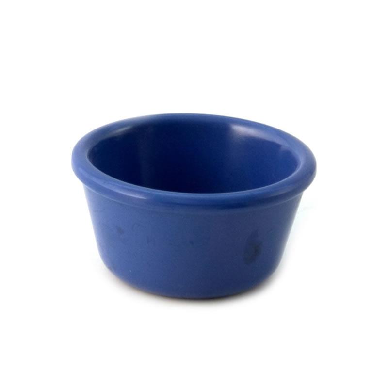 Melamine Mardi Gras 4oz Plain Ramekin Blue