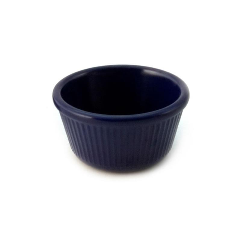 4 oz Melamine Fluted Ramekin Blue