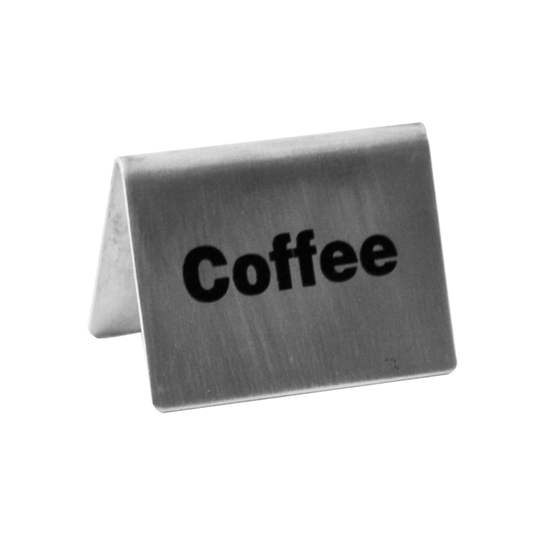 Tent Sign Stainless Steel 'Coffee'