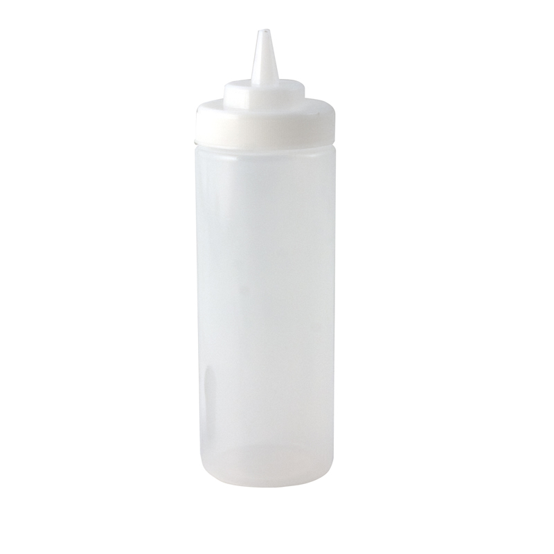 Squeeze Bottle -Wide Mouth 16oz Clear