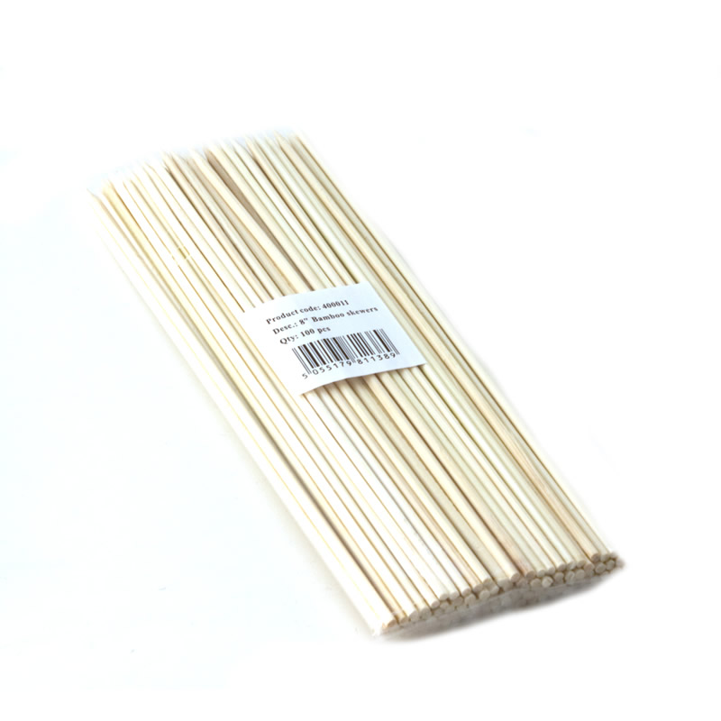 8 Inch Bamboo Satay/Kebab Skewer Box Of 100