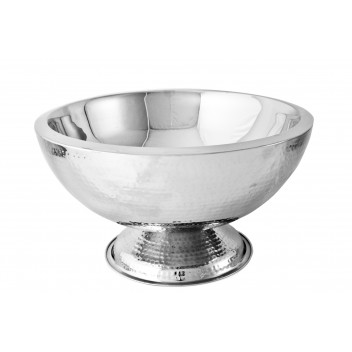 Champagne Bowl Double Walled – Hammered Finish